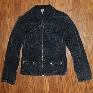 XCVI Acid Wash Full Zip Jacket